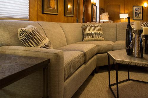 Contemporary sectional sofa living room furniture at Wilk Furniture & Design in Random Lake
