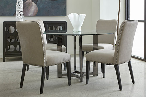 Home Meridian contemporary dining room set from Wilk Furniture & Design in Random Lake