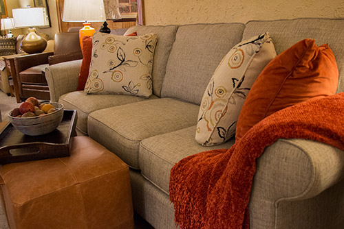 Transitional living room sofa from Wilk Furniture & Design Random Lake Wisconsin
