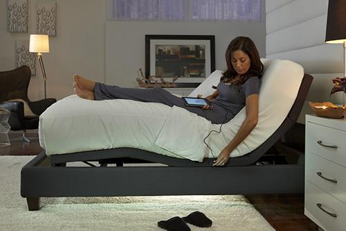 Leggett & Platt power adjustable bed from Wilk Furniture & Design Random Lake Wisconsin