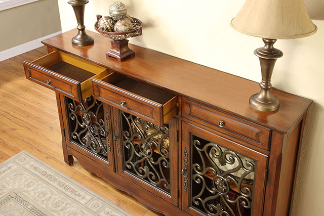 Powell Home Furniture console table from Wilk Furniture & Design in Random Lake
