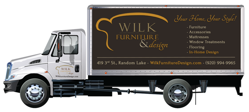 Free Delivery and Setup from Wilk Furniture & Design Random Lake Wisconsin
