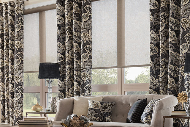 Graber solar window shades and curtains from Wilk Furniture & Design in Random Lake