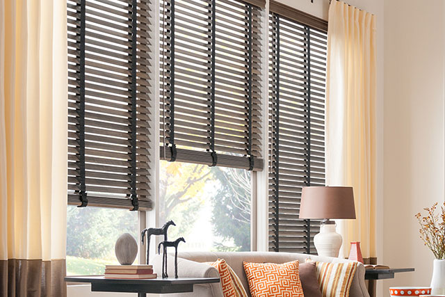 Graber wood window blinds from Wilk Furniture & Design in Random Lake